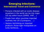 emerging infections international travel and commerce