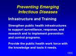 preventing emerging infectious diseases31