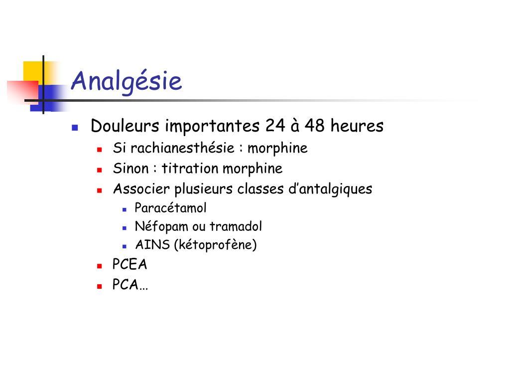 Analgésie