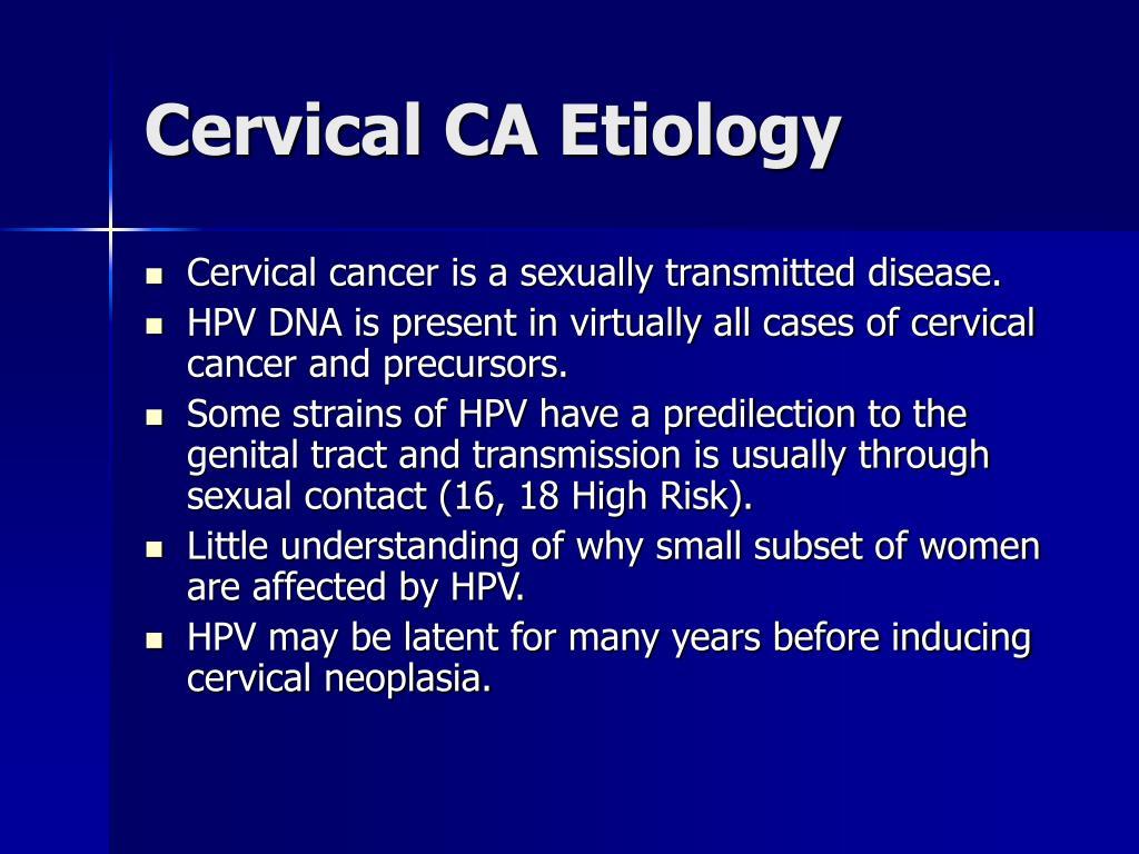 Cervical CA Etiology