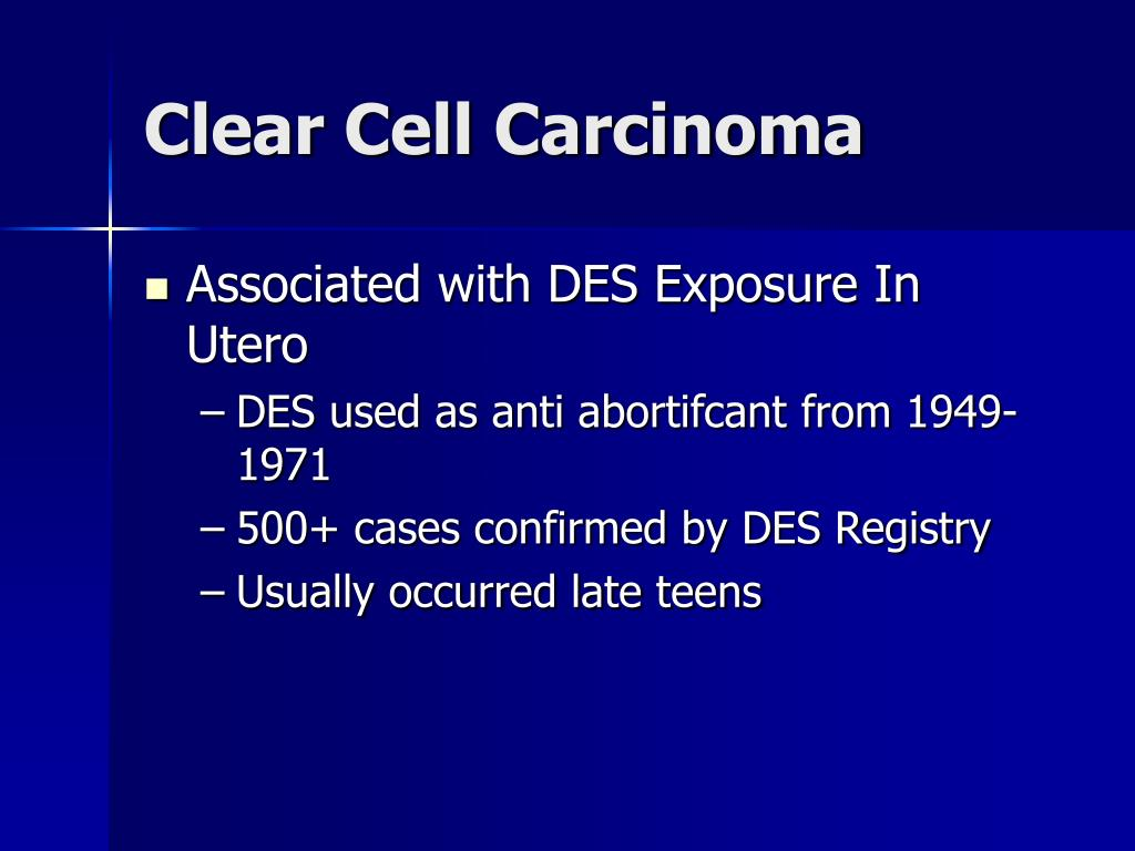 Clear Cell Carcinoma