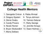 college health mentors