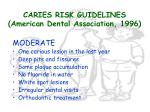caries risk guidelines american dental association 199620