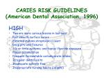 caries risk guidelines american dental association 199622