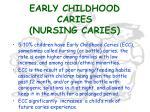early childhood caries nursing caries