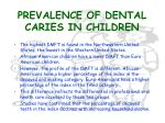 prevalence of dental caries in children14