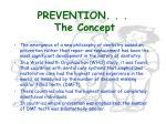 prevention the concept
