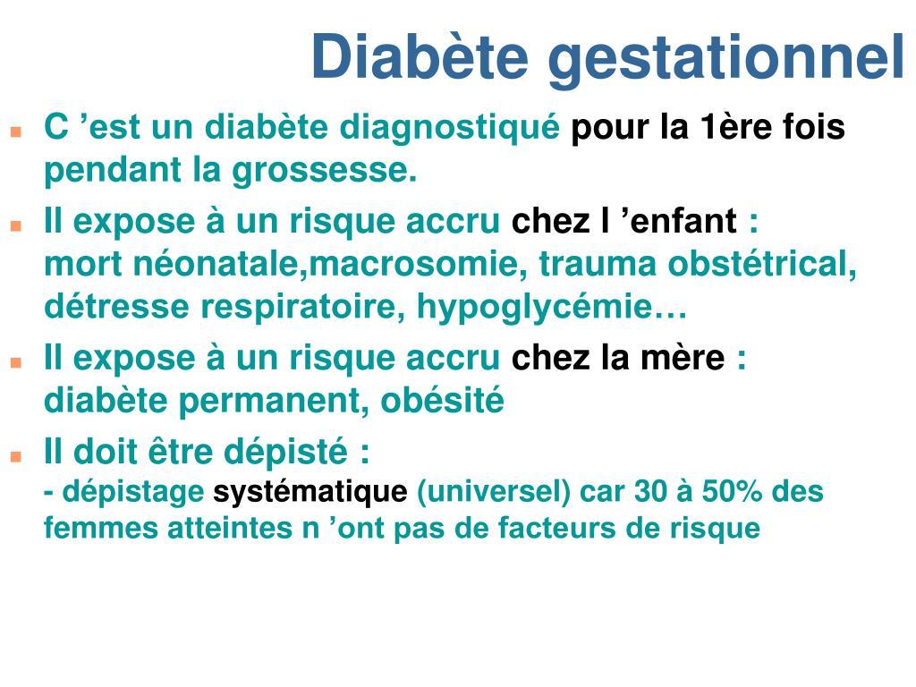 Grossesse 7 sa pas de síntomas de diabetes