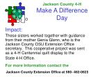 jackson county 4 h make a difference day11