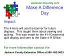 jackson county 4 h make a difference day15
