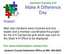 jackson county 4 h make a difference day3