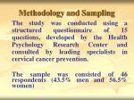 methodology and sampling