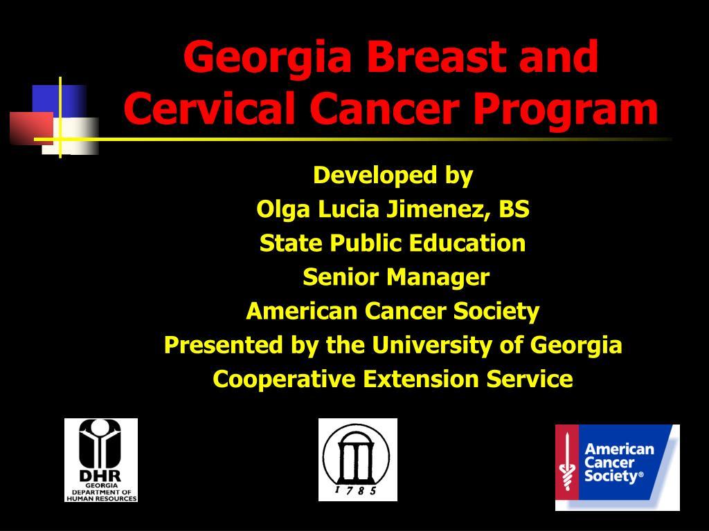 georgia breast and cervical cancer program l.