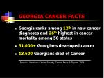 georgia cancer facts