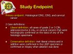 study endpoint