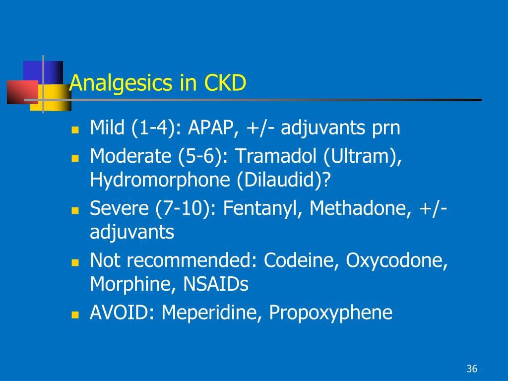 Analgesics in CKD