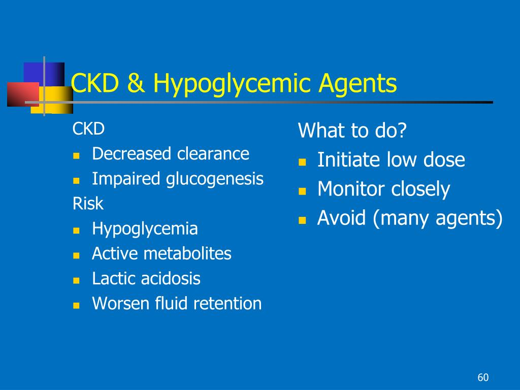CKD & Hypoglycemic Agents