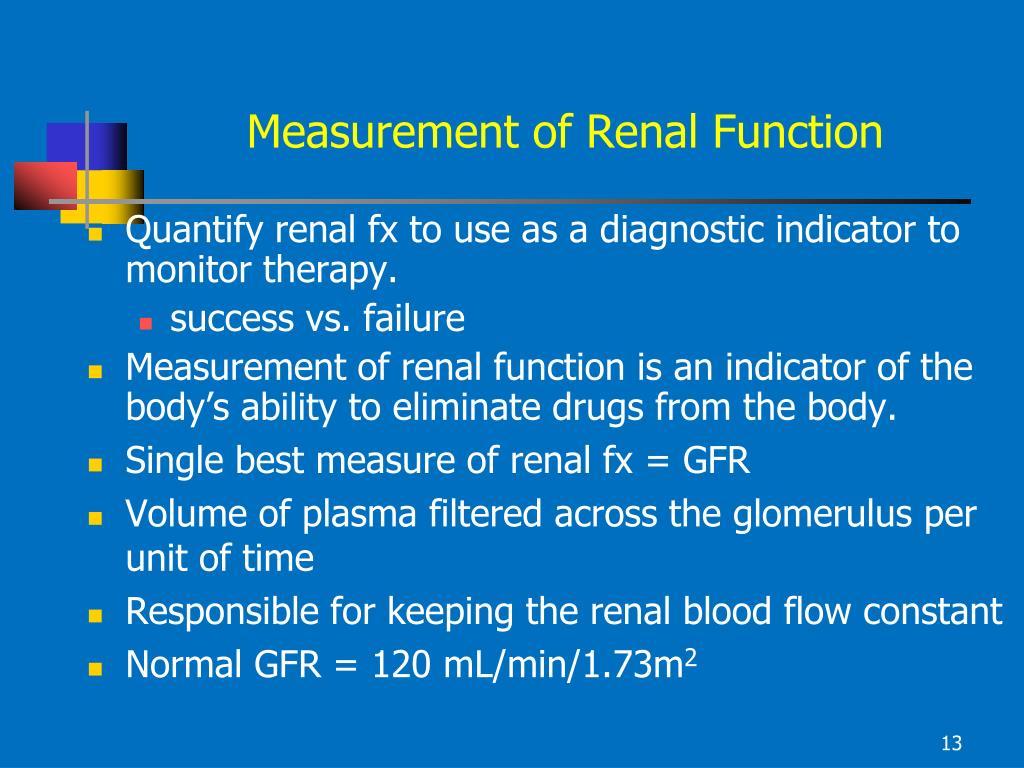 Measurement of Renal Function