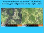 a section of the northern shore of aceh sumatra indonesia pre and post tsunami by digital globe20