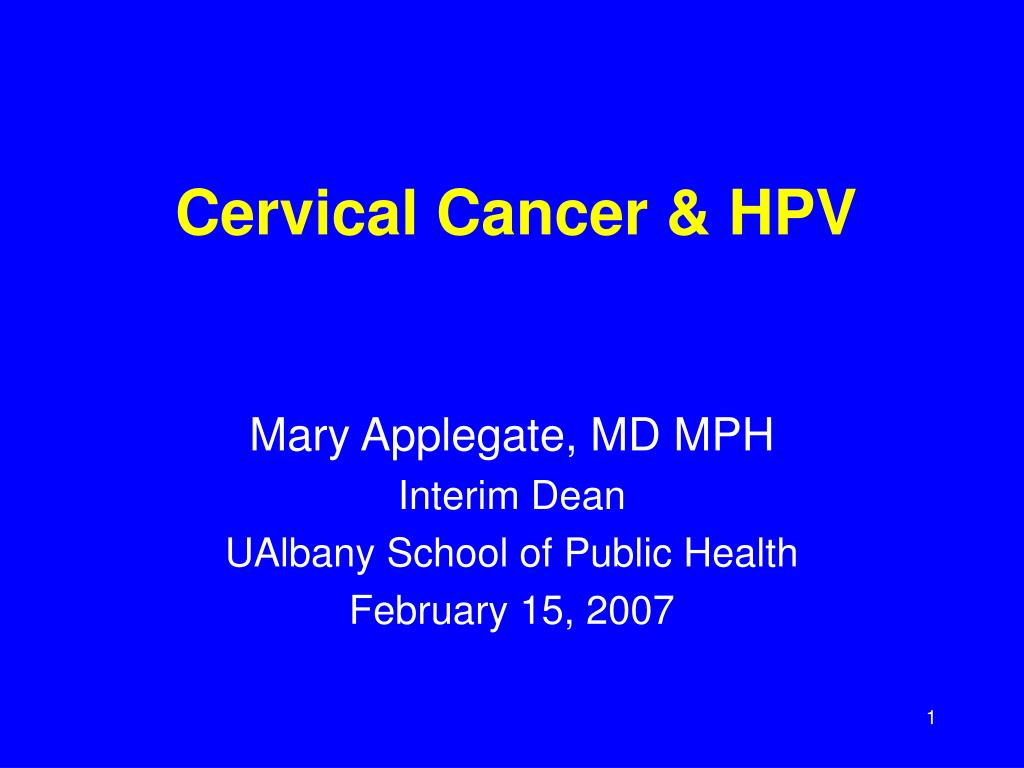 cervical cancer hpv l.