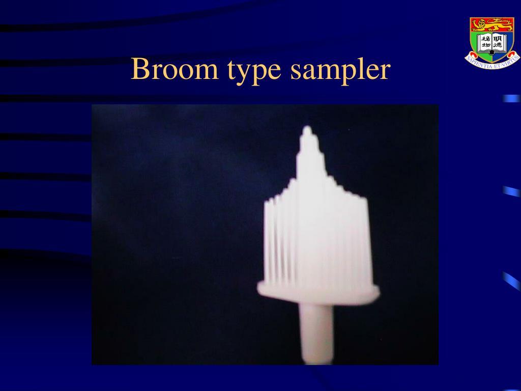 Broom type sampler