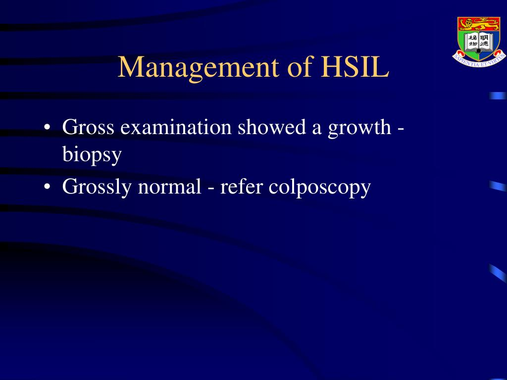 Management of HSIL