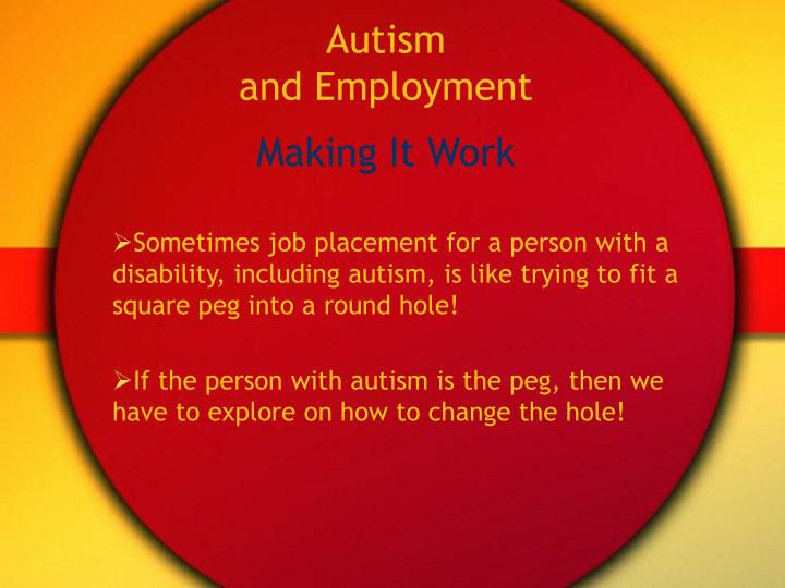 Autism and employment2