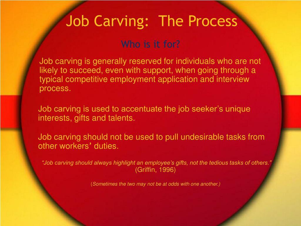 Job Carving:  The Process