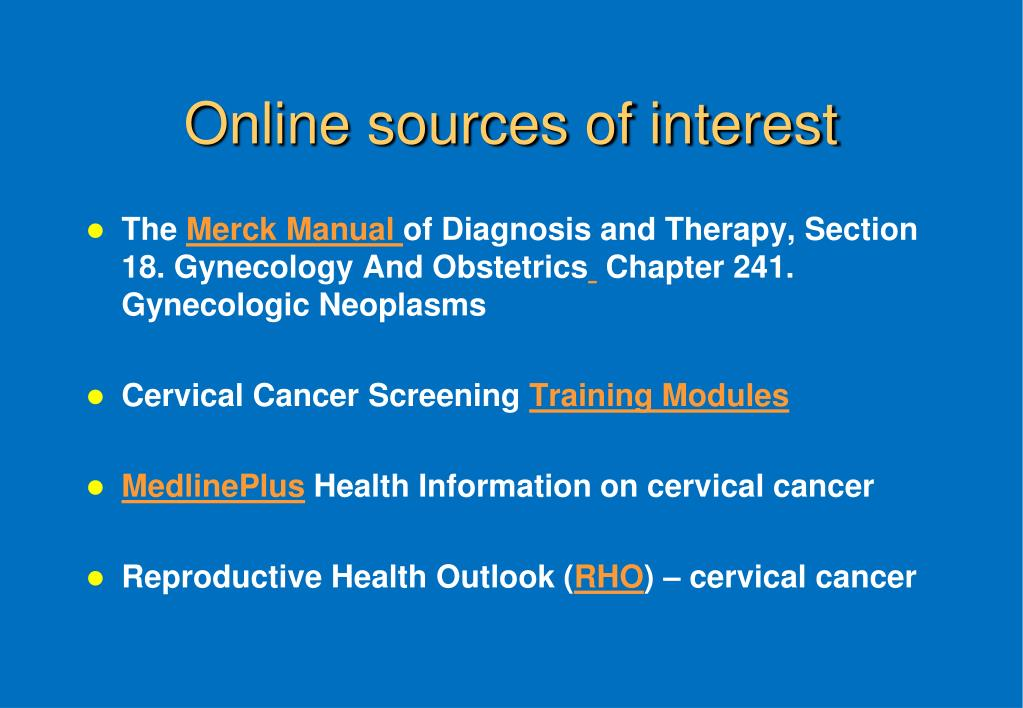 Online sources of interest