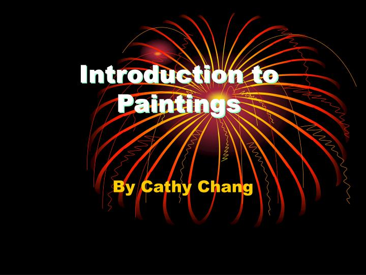 introduction to paintings n.