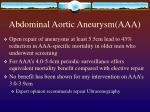 abdominal aortic aneurysm aaa28