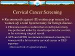 cervical cancer screening8