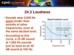 24 3 loudness