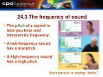 24 3 the frequency of sound