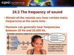 24 3 the frequency of sound10