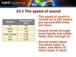 24 3 the speed of sound