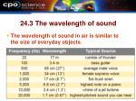 24 3 the wavelength of sound