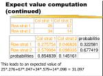 expect value computation continued42
