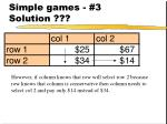 simple games 3 solution27