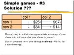 simple games 3 solution31
