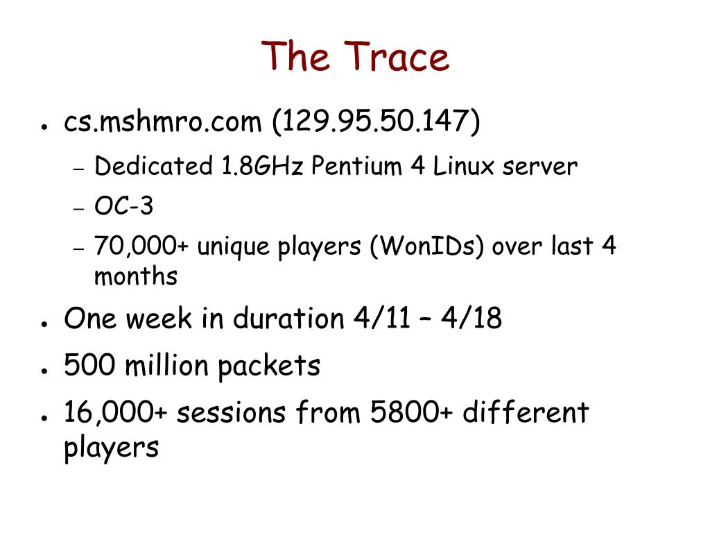 The Trace