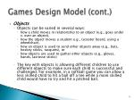 games design model cont9