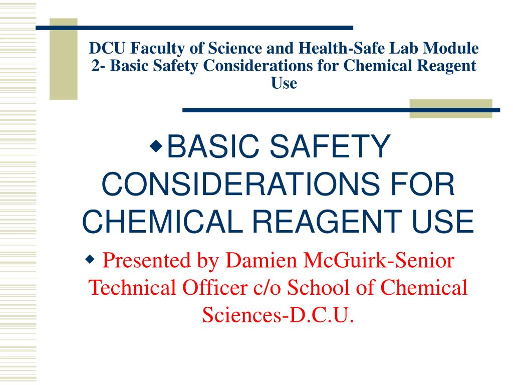 PPT - DCU Faculty of Science and Health-Safe Lab Module 2- Basic