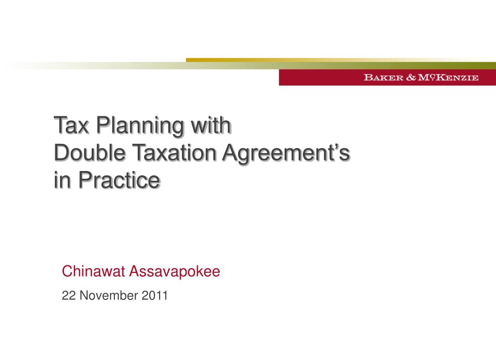 Ppt Tax Planning With Double Taxation Agreements In Practice