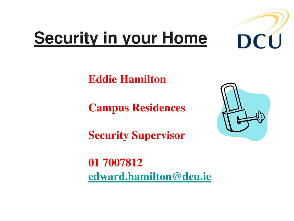 Security in your Home