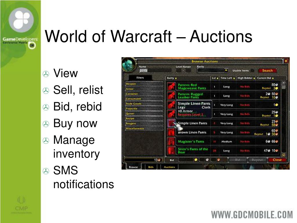 World of Warcraft – Auctions