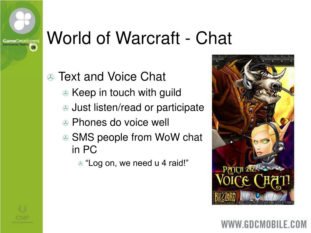 World of Warcraft - Chat