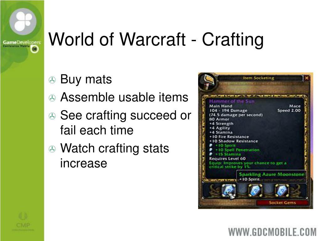 World of Warcraft - Crafting