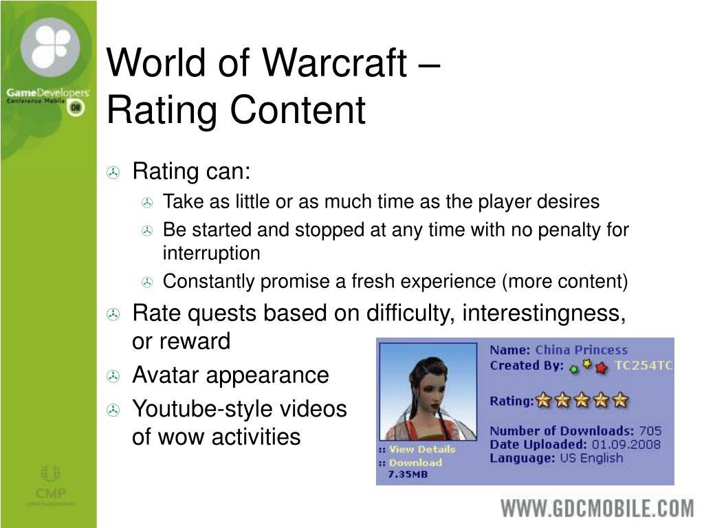 World of Warcraft –