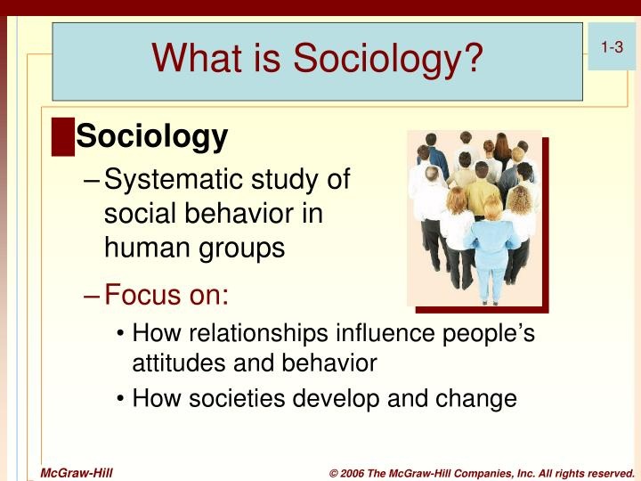 what do sociologists do Finally, sociology studies social institutionssocial institutions are major structures made up of groups or ideas that influence people's daily lives, views of the world, or integration into society.
